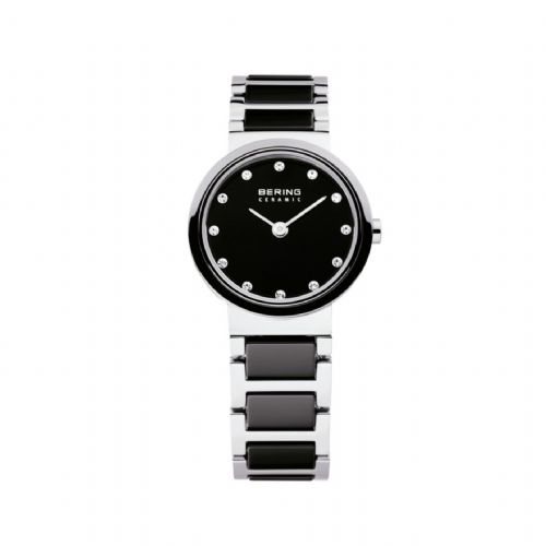 Bering Ladies Black Ceramic Bracelet | Bering Watch | 10725-742